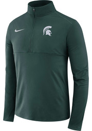 Michigan State Spartans Nike Core Performance 1/4 Zip Pullover - Green
