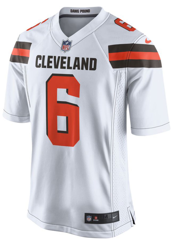 Baker Mayfield Nike Cleveland Browns Mens White 2018 Away Football Jersey - Image 2