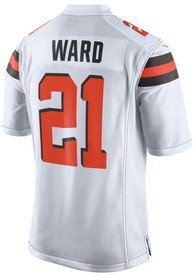 Denzel Ward Cleveland Browns Nike Away Game Football Jersey - White