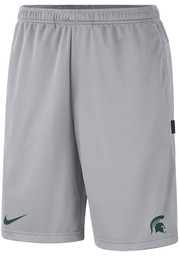 Nike Michigan State Spartans Mens Grey Coach Dry Shorts