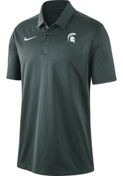 Nike Michigan State Spartans Mens Green Franchise Dry Short Sleeve Polo