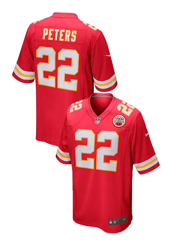 Marcus Peters Nike Kansas City Chiefs Mens Red 2017 Home Football Jersey - Image 1