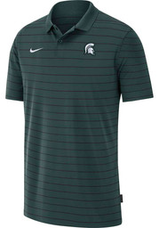 Nike Michigan State Spartans Mens Green Victory Coach Short Sleeve Polo