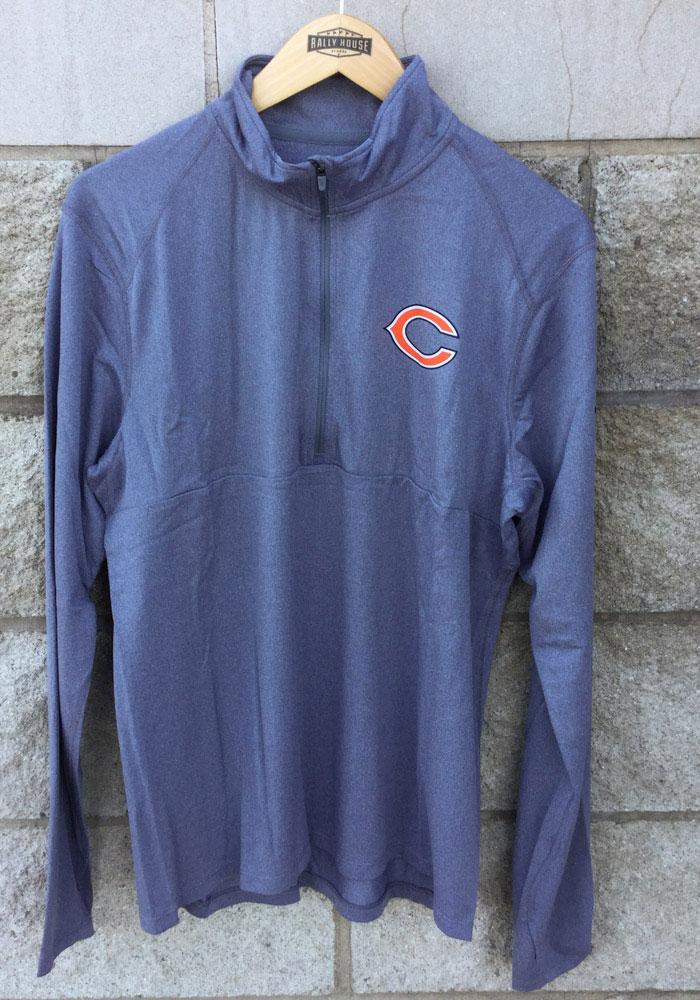 Nike Chicago Bears Mens Grey Core Long Sleeve 1/4 Zip Pullover - Image 3