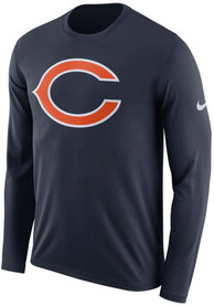 Chicago Bears Nike Primary Logo T Shirt - Navy Blue