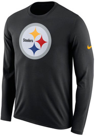 purchase cheap 08d30 42b27 Nike Pittsburgh Steelers Black Primary Logo Tee