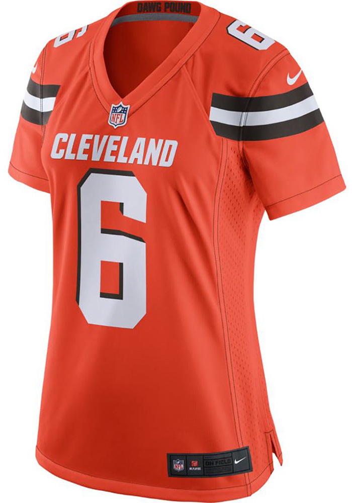 brand new e4f11 91fd0 Baker Mayfield Nike Cleveland Browns Womens Orange 2019 Alternate Football  Jersey