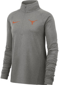 Texas Longhorns Womens Nike Dri-FIT 1/4 Zip - Grey