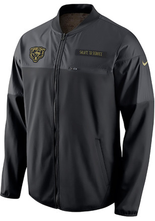 Nike Chicago Bears Mens Black STS Hybrid Light Weight Jacket