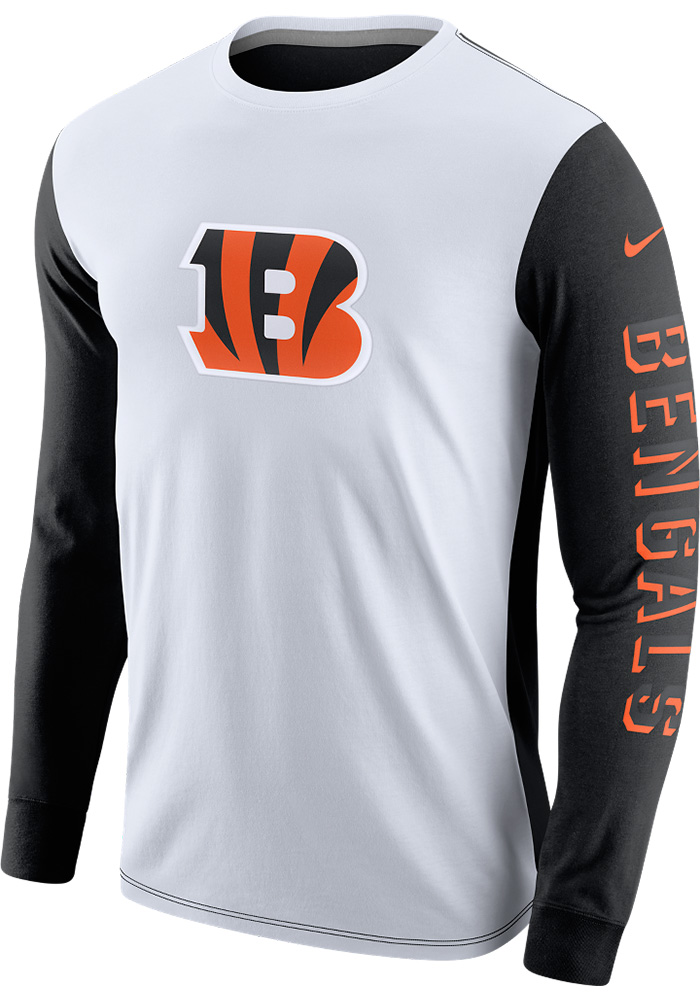 buy online 2ef99 f6dfa Nike Cincinnati Bengals White Champ Drive 2.0 Long Sleeve T-Shirt