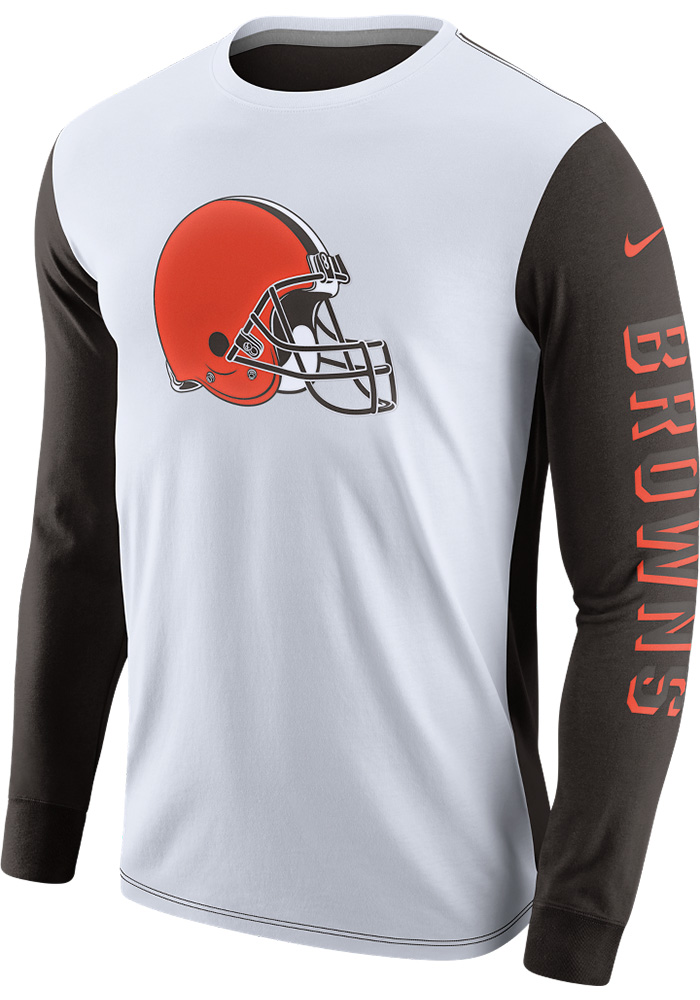 Nike Cleveland Browns White Champ Drive 2 0 Long Sleeve T Shirt 12554580