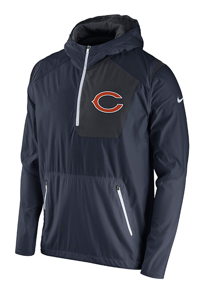 Nike Chicago Bears Mens Blue Vapor Speed Fly Rush Light Weight Jacket - Image 1