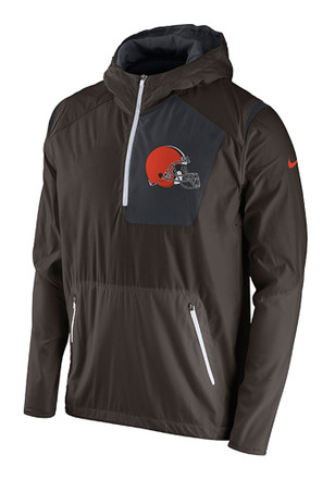 Nike Cleveland Browns Mens Brown Vapor Speed Fly Rush Light Weight Jacket