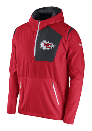 Nike KC Chiefs Mens Red Vapor Speed Fly Rush Light Weight Jacket