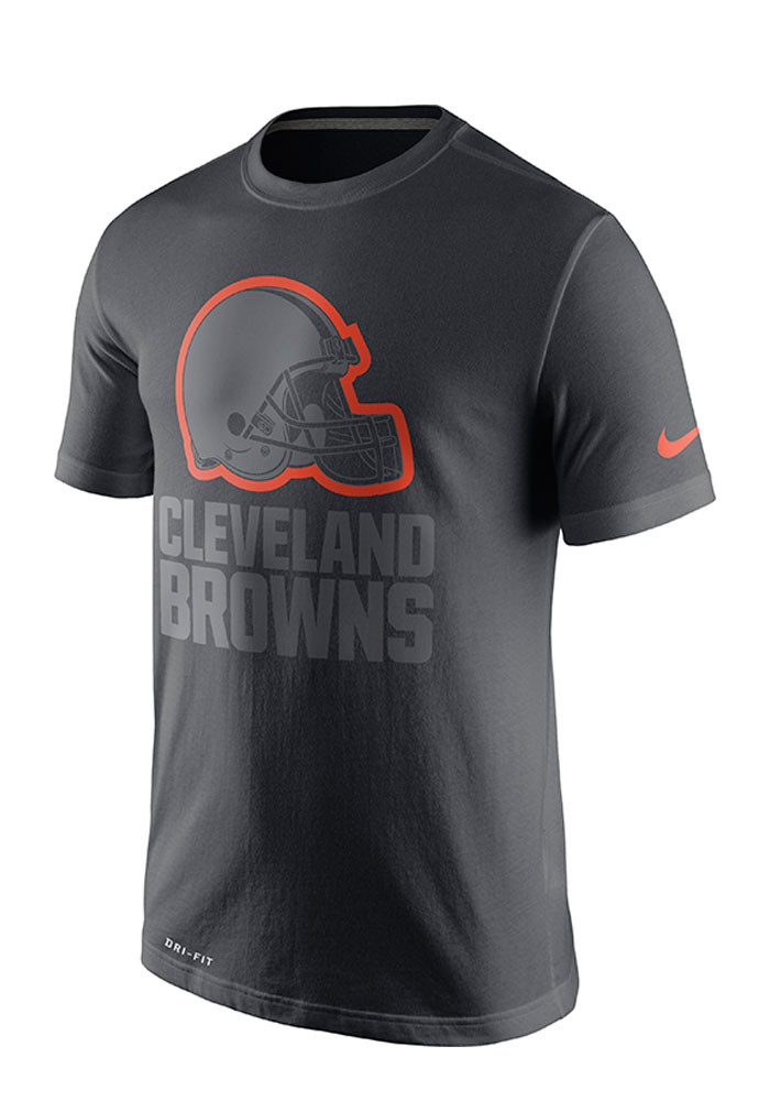 Nike Cleveland Browns Mens Grey 2016 Travel Short Sleeve Fashion T Shirt - Image 1