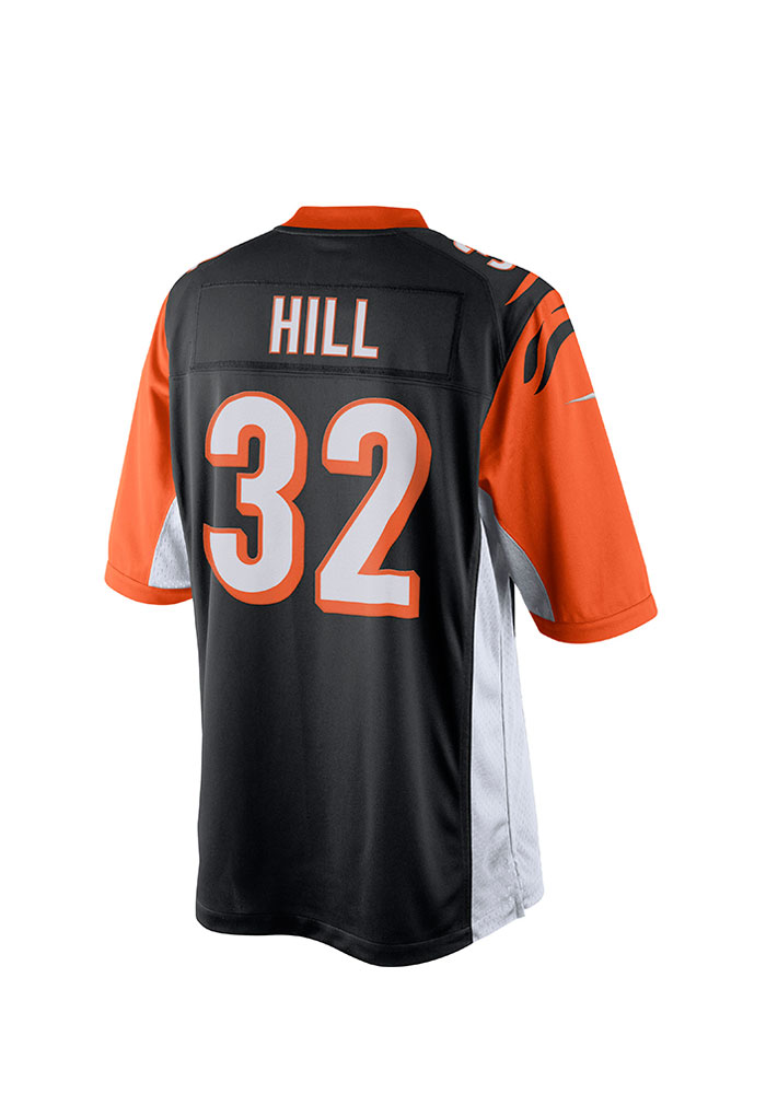 Jeremy Hill Nike Cincinnati Bengals Mens Black Tackle Twill Limited Football Jersey - Image 1