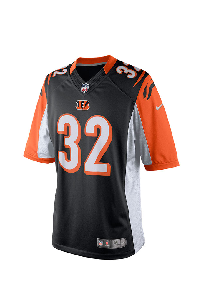Jeremy Hill Nike Cincinnati Bengals Mens Black Tackle Twill Limited Football Jersey - Image 2
