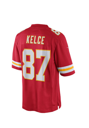 Travis Kelce Nike KC Chiefs Mens Red Tackle Twill Jersey
