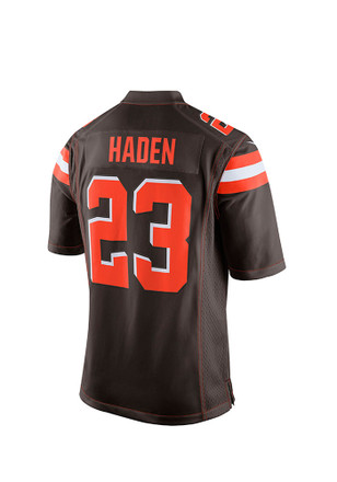 Joe Haden Nike Cleveland Browns Mens Brown Tackle Twill Jersey