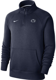 Penn State Nittany Lions Nike Club Fleece 1/4 Zip Pullover - Navy Blue