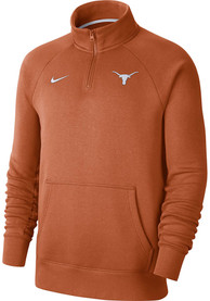 Nike Texas Longhorns Burnt Orange Club Fleece 1/4 Zip Pullover