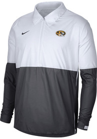 Missouri Tigers Nike Coach Color Block Pullover Light Weight Jacket - White
