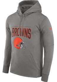 Cleveland Browns Nike Therma MDS Hood - Grey