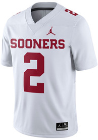 reputable site 135b6 56c1d Nike Oklahoma Sooners White Game Jersey