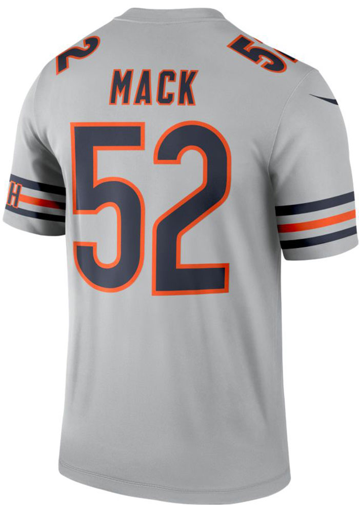 best website 21d6f 0c421 Khalil Mack Nike Chicago Bears Mens Grey Inverted Legend Football Jersey