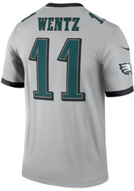 uk availability fff73 ab686 Carson Wentz Nike Philadelphia Eagles Grey Inverted Legend Jersey