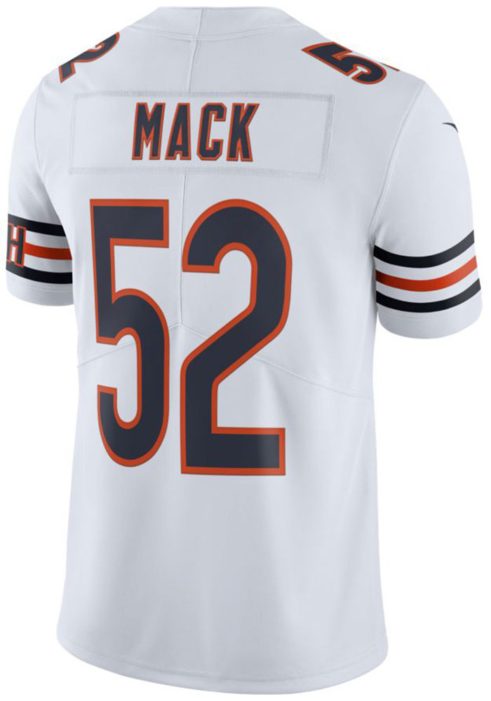 superior quality 6357c 8479e Khalil Mack Nike Chicago Bears Mens White 2019 Away Limited Football Jersey