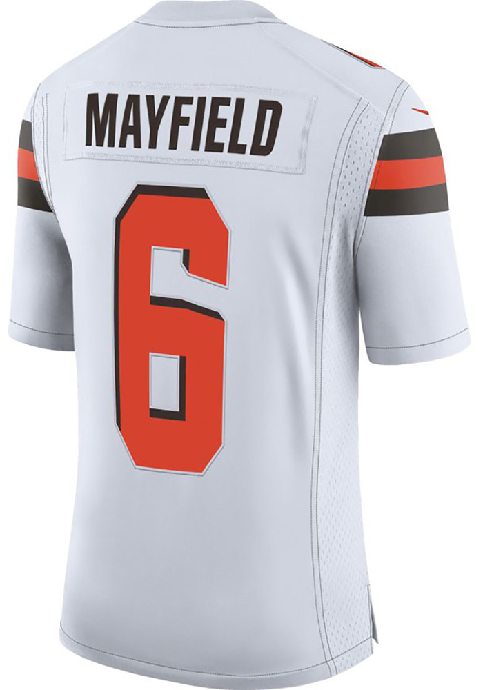 pretty nice 8e0f1 0aaf7 Baker Mayfield Nike Cleveland Browns Mens White 2019 Away Limited Football  Jersey