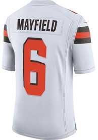 hot sale online 16ca4 9877f Baker Mayfield Nike Cleveland Browns White 2019 Away Jersey