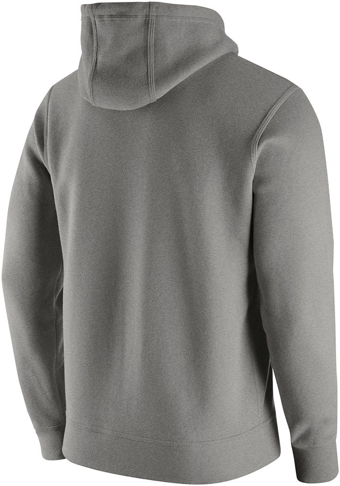 Nike Pitt Panthers Mens Grey Club Fleece Long Sleeve Hoodie - Image 2