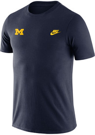 Michigan Wolverines Nike Futura Embroidered T Shirt - Navy Blue