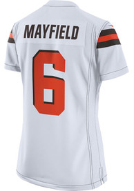 Baker Mayfield Cleveland Browns Womens Nike Road Game Football Jersey - White