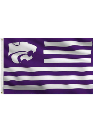 K-State Wildcats 3x5 Purple, White Grommet Purple Silk Screen Grommet Flag