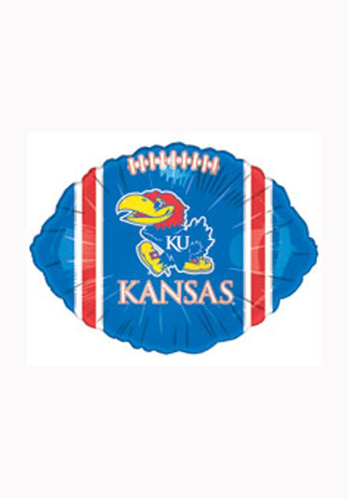 Kansas Jayhawks 18in Blue Football Balloon - Image 1