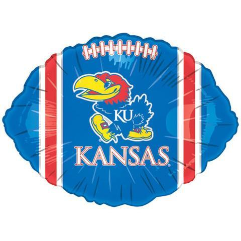 Kansas Jayhawks 18in Blue Football Balloon - Image 2