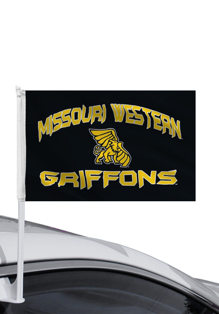 Missouri Western Griffons 11x16 Black Silk Screen Car Flag - Image 1