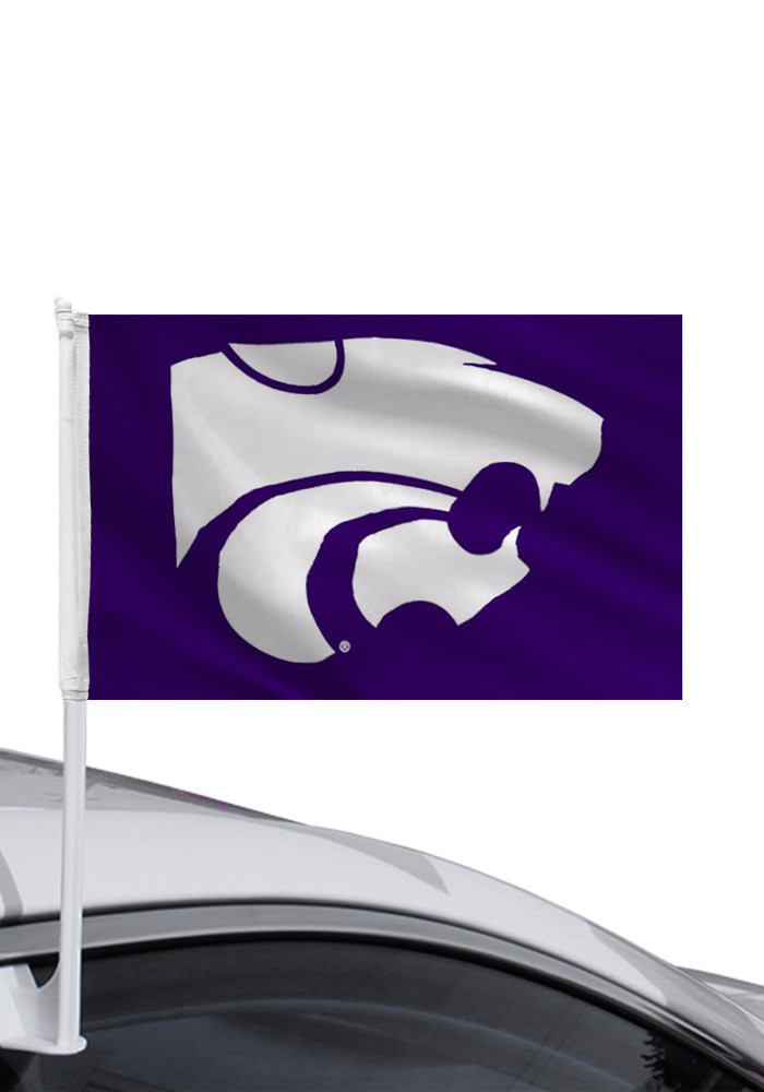K-State Wildcats 11x16 Purple Silk Screen Car Flag - Image 1