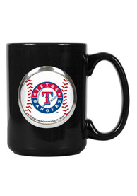 Texas Rangers 15oz Black Baseball Mug