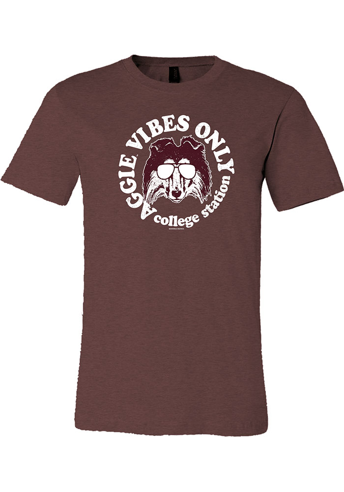 Texas A&M Aggies Womens Maroon Vibes Short Sleeve T-Shirt - Image 1