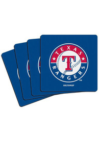 Texas Rangers 4 Pack Blue Neoprene Coaster