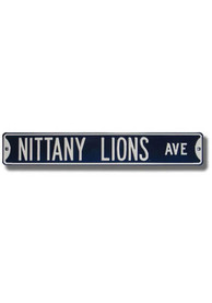 Penn State Nittany Lions Navy Metal Street Sign