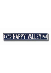 Penn State Nittany Lions Navy Happy Valley Street Sign