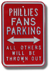 Philadelphia Phillies Parking Only Sign