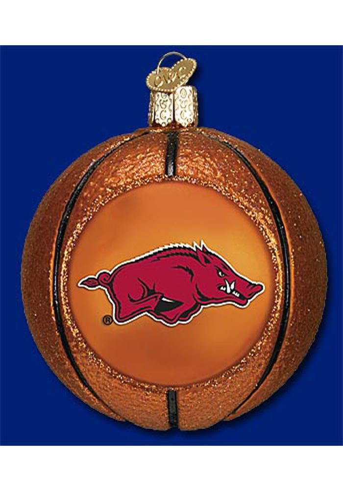 Arkansas Razorbacks Basketball Ornament - Image 1