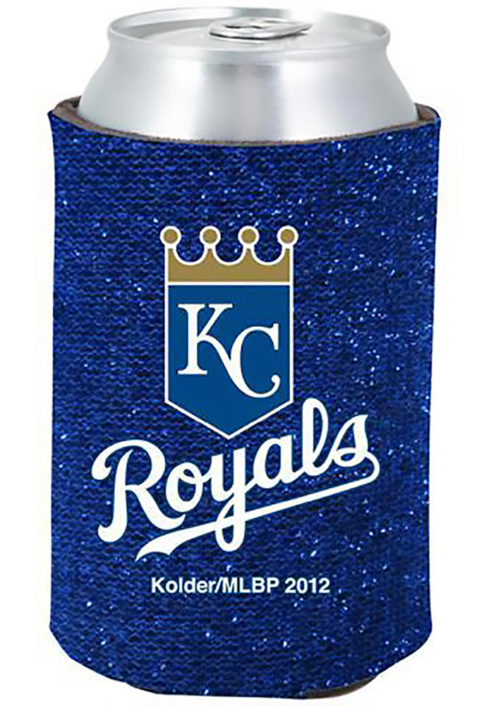 Kansas City Royals Blue Glitter Can Koozie - Image 1