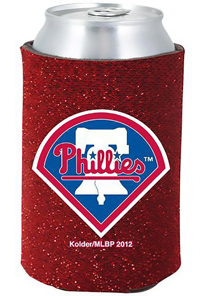 Philadelphia Phillies Red Glitter Can Koozie - Image 1